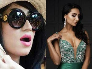 Pakistani model Qandeel Baloch (left) was murdered in an apparent honor crime by her brother. Miss Pakistan World, Anzhelika Tahir (right) called on Pakistani women to unite against such violence. (Twitter)