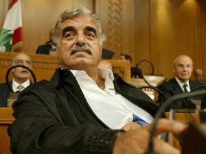 A September 3, 2004 photo of then Lebanese Prime Minister Rafik Hariri in parliament. AFP
