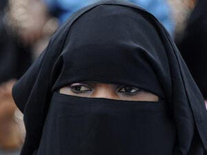 A woman wears the burka. (File photo)