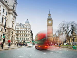 London city scene with red bus and Big Ben in background (Shutterstock/File Photo)