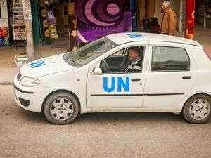 Car of  United Nations Relief and Works Agency (Shutterstock)