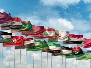 Flags of 22 members of the Arab League (Shutterstock/File Photo)