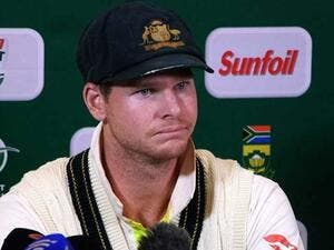 Steve Smith, Australia's captain, fields questions from reporters after admitting to ball tampering (AFP)