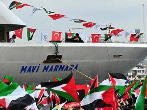 The Turkish vessel the Mavi Marmara was attacked by the Israeli navy in international waters as the flotilla attempted to sail to Gaza to break the siege. (File photo)