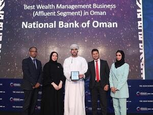National Bank of Oman Wins The 'Best Wealth Management Business' in Oman At the Asian Banker Awards in Dubai