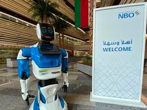 National Bank of Oman interactive robot