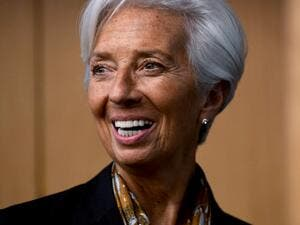 International Monetary Fund (IMF) Managing Director Christine Lagarde smiles during a press conference in Kuala Lumpur on June 24, 2019.  Mohd RASFAN / AFP