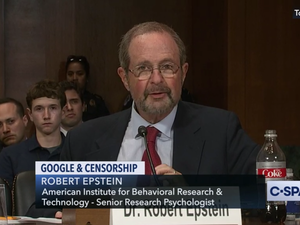 Dr. Robert Epstein, Senate Judiciary Committee, July 2019 /CSPAN