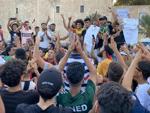 Protesters in Tripoli, Libya gather against corruption and electricity shortages on Aug 24, 2020 (AFP/FILE)