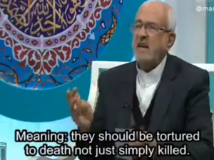 Quran expert urges torture of Iranian protesters