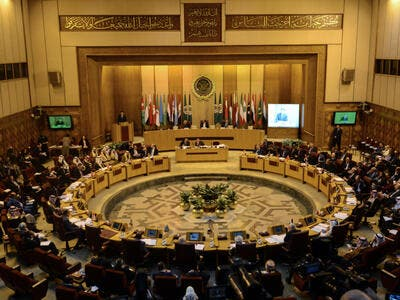 A picture taken on February 1, 2018, shows Arab Foreign Ministers meeting at the Arab League headquarters in the Egyptian capital Cairo. (AFP/ File Photo)