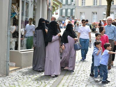 Islamic women in nikab walking through Monschau in Germany. (Shutterstock/ File Photo)