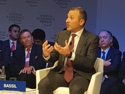 """Bassil Doesn't Represent Me"": Lebanese Social Media Splits Over FM Participation at the WEF at Davos"