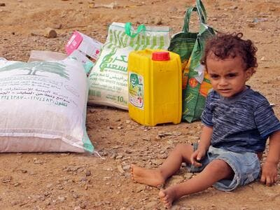 The UN World Food Programme feeds 12 million Yemenis a month (AFP)