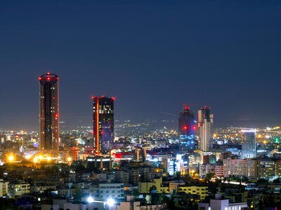 Night shot of the new downtown of Amman  (Shutterstock)
