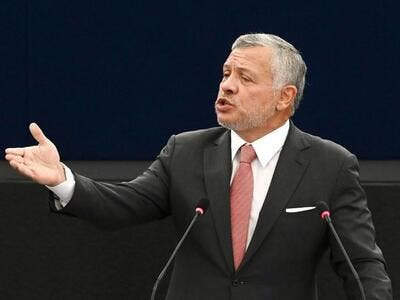 Warning. A file picture shows Jordanian King Abdullah II deliver a speech at the European Parliament, last January, in Strasbourg, France. (AFP)