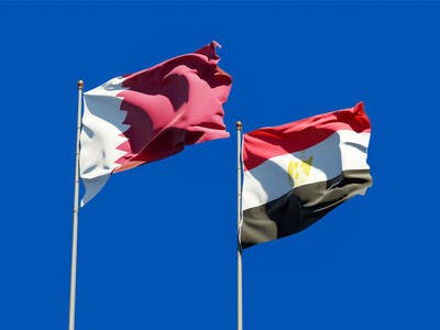 Flags of Qatar and Egypt. (Shutterstock/ File Photo)