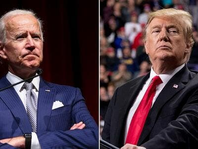 Presidential candidate Biden (L) and President Trump (R) /AFP