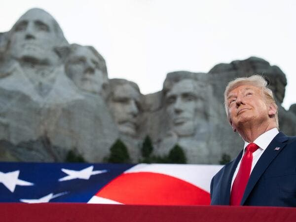 AFP presents a retrospective photo package of 60 pictures marking the 4-year presidency of President Trump. US President Donald Trump arrives for the Independence Day events at Mount Rushmore National Memorial in Keystone, South Dakota, July 3, 2020. SAUL LOEB / AFP