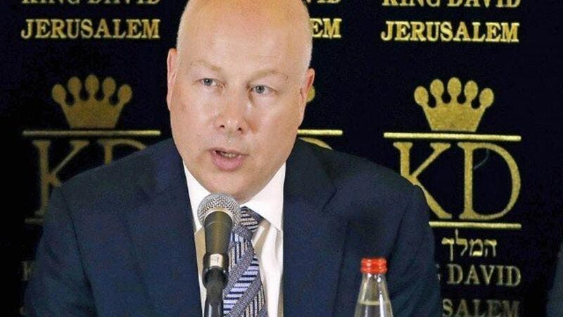 U.S. special envoy to the Mideast Jason Greenblatt (Twitter)