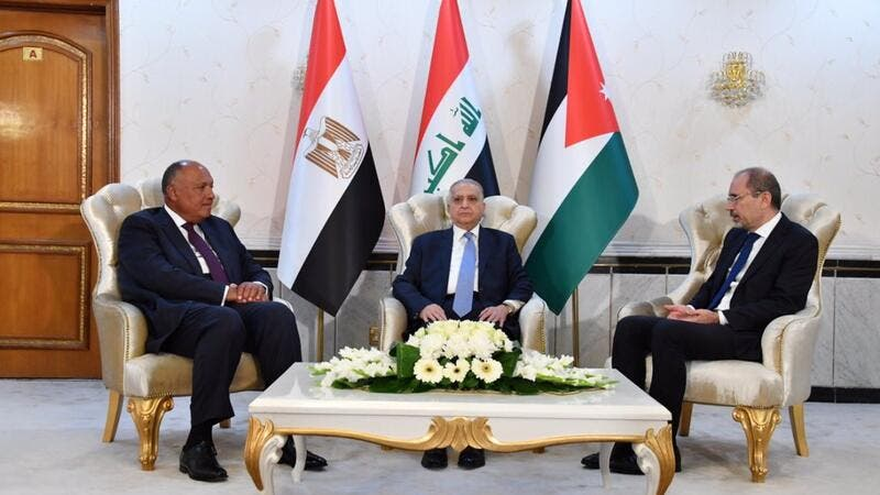 Foreign Ministers of Iraq, Jordan and Egypt Hold Important Meeting in Baghdad (Twitter)