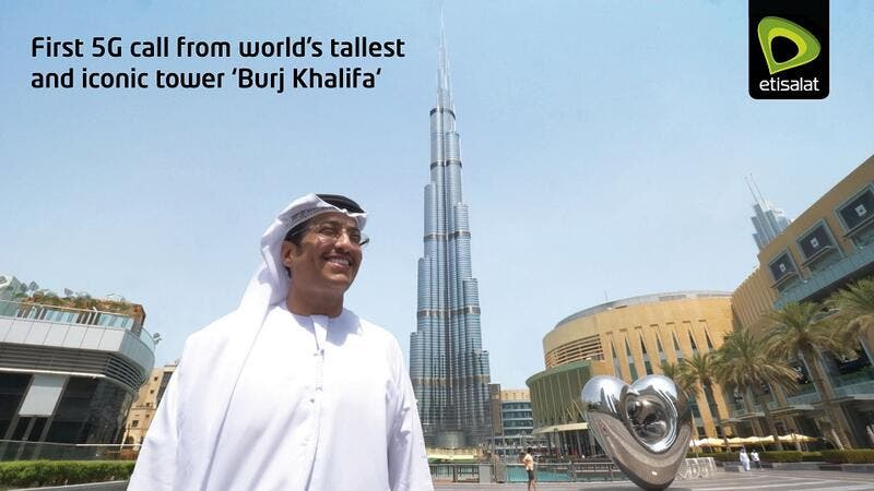 Etisalat and Emaar come together to make 5G call from iconic tower 'Burj Khalifa'