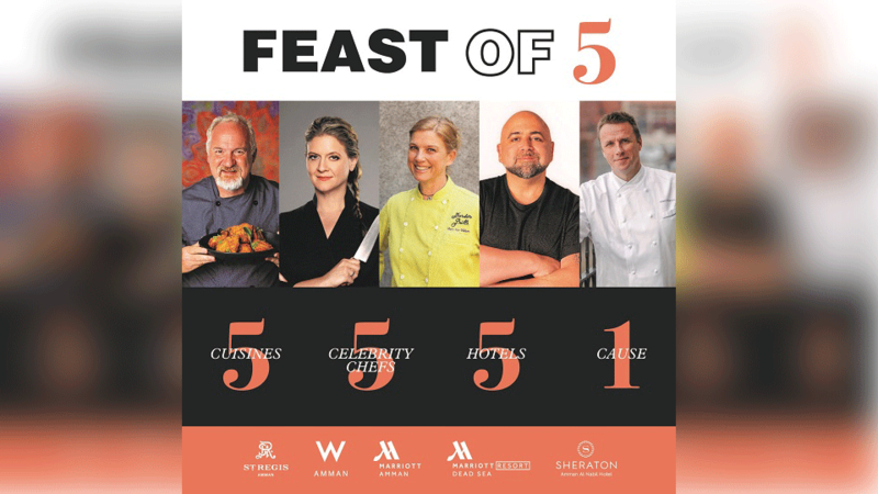 Top 5 acclaimed American celebrity chefs gather for one cause