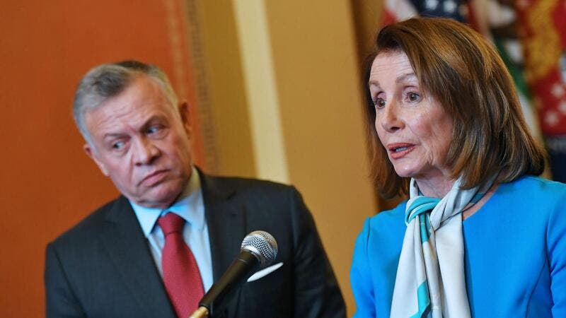 House Speaker Nancy Pelosi, right, said Saturday's visit came at 'a critical time for the security and stability of the region'. (AFP/ File Photo)