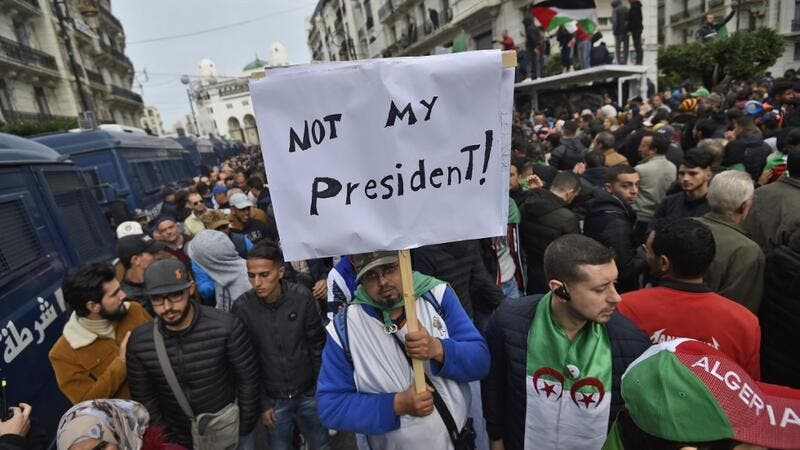 Abdelmadjid Tebboune, a former ally of Algeria's deposed leader Abdelaziz Bouteflika was elected yesterday president of the protest-wracked country in a widely boycotted vote, sparking another outpouring of anger on the streets today. RYAD KRAMDI / AFP