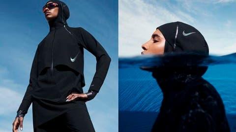 máquina de coser globo expedición  Nike Unveils The First Range of Modest Swimwear for Hijabi Athletes | Al  Bawaba