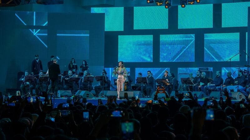 Prominent Arab Singer Assala Nasri Glistens in Live Global Village Concert