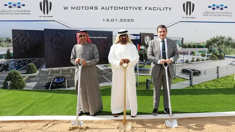 His Highness Sheikh Ahmed Bin Saeed Al Maktoum Lays Foundation Stone for W Motors Production Facility at Dubai Silicon Oasis