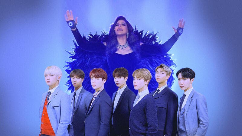 After Ahlam's response, #AhlamxBTS hashtag broke Twitter (source: @albawaba)