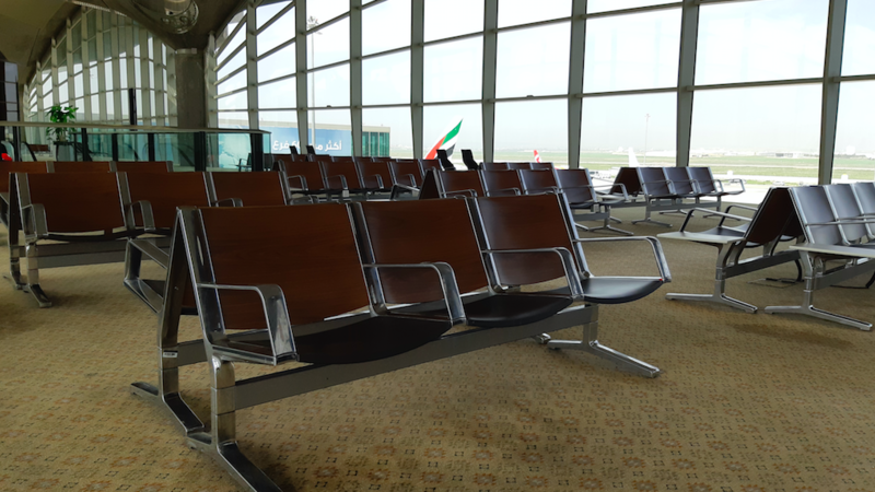 empty airport transit zone due to coronavirus outbreak travel restrictions (Shutterstock)