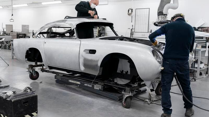 Aston Martin begins building continuation DB5 with fake machine guns