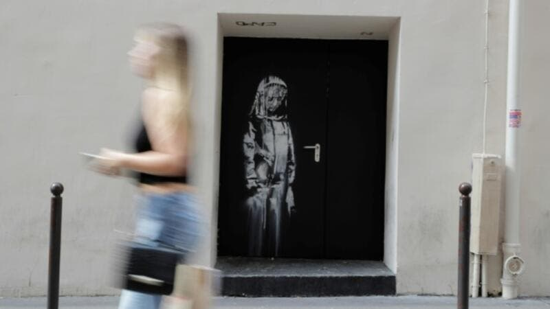 France arrests six over stolen Banksy artwork