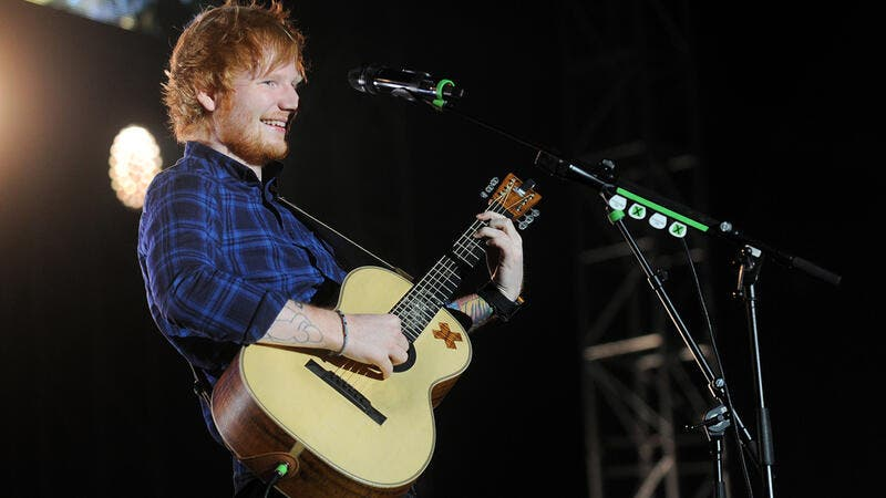 British singer Ed Sheeran during his performance in Prague, Czech republic. (Shutterstock/ File Photo)