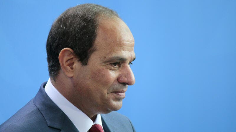 Egyptian president Abdel Fattah el-Sisi at a press conference after a meeting with the German Chancellor in the Chanclery in Berlin. (Shutterstock/ File Photo)