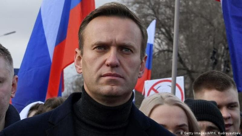 It came as Navalny's wife, Yulia, 44, marked their 20th wedding anniversary. (AFP)