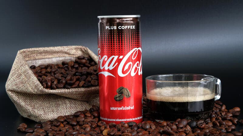 Close up of Coca Cola Plus Coffee, a new innovation of Coca Cola. (Shutterstock/ File Photo)
