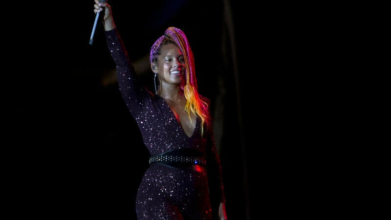 US singer Alicia Keys performs in the Rock in Rio concert (Shutterstock/ File Photo)