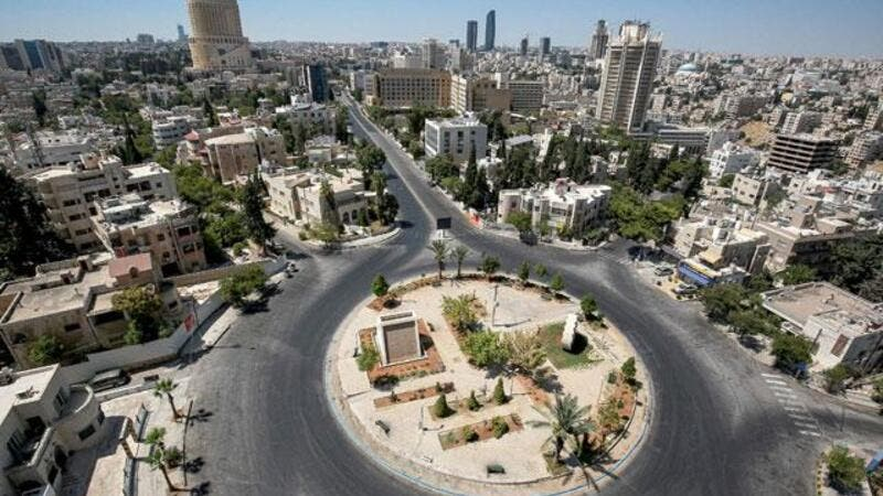 Aerial view of Amman during Lockdown (AFP File Photo)