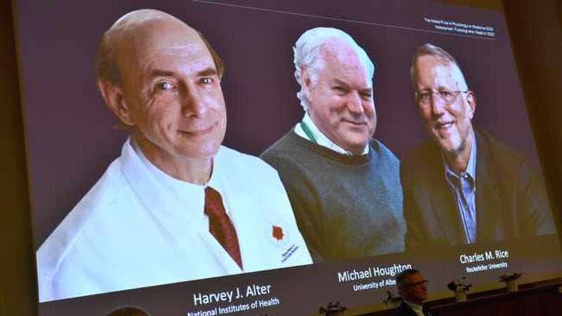 Nobel Prize Awarded Jointly For Hepatitis C Discovery To Three Scientists