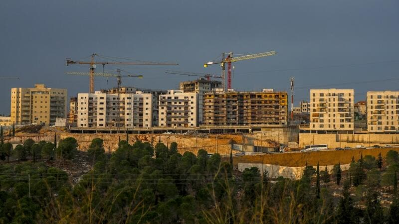 A picture taken on November 12, 2020 shows a view of ongoing construction work at Ramat Shlomo, a Jewish settlement in the Israeli-annexed eastern sector of Jerusalem. Israel has approved building of about 100 settlement homes at the same site where settlement expansion plans unveiled during a 2010 visit by then-US vice president Joe Biden angered Washington, an NGO said on November 12. AHMAD GHARABLI / AFP