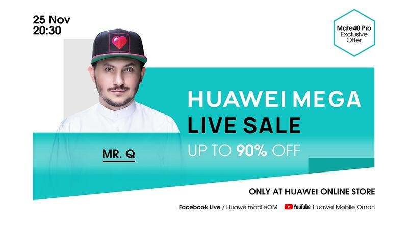 Huawei MEGA Live Sale To Offer Consumers up To 90% Discounts