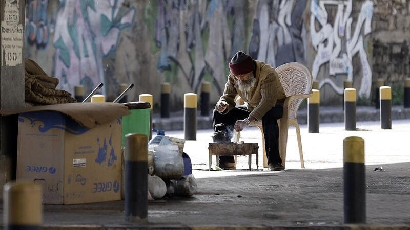 Under the new measures, non-essential workers are barred from leaving their homes, and supermarkets are supposed to operate delivery services only.  JOSEPH EID / AFP