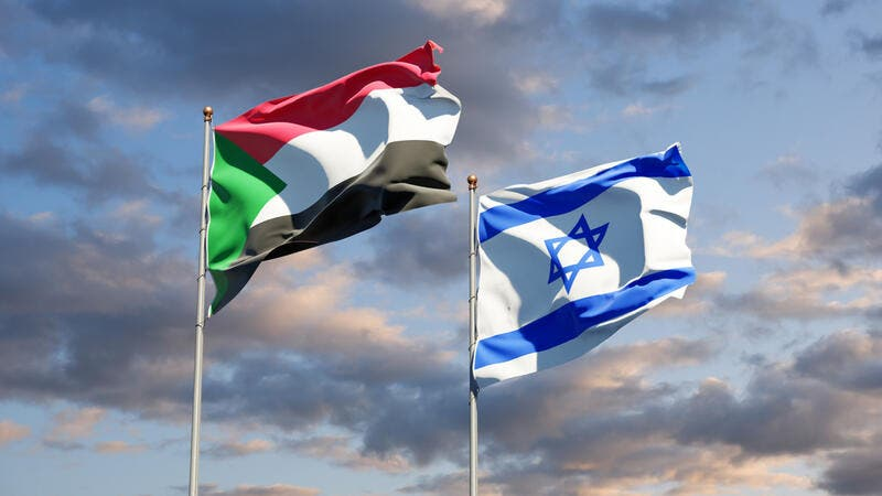 Flags of Israel and Sudan  (Shutterstock)