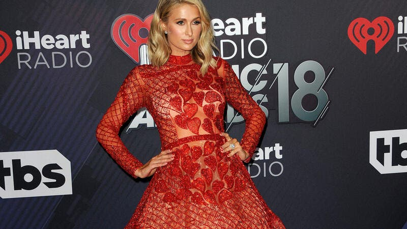 Paris Hilton at the 2018 iHeartRadio Music Awards held at the Forum in Inglewood, USA on March 11, 2018. (Shutterstock)