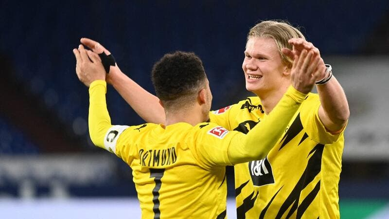 Jadon Sancho and Erling Haaland (Photo: AFP)