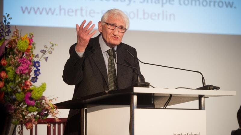 German philosopher Jürgen Habermas